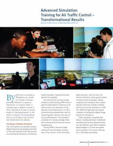 Advanced Simulation Training for Air Traffic Control – Transformational Results